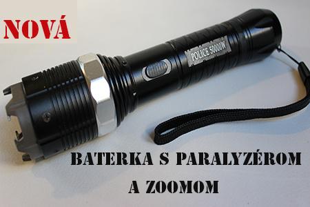 Policajná baterka s paralyzérom a zoomom